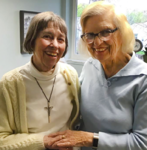 """Image of Sister Gail with """"Sally"""""""