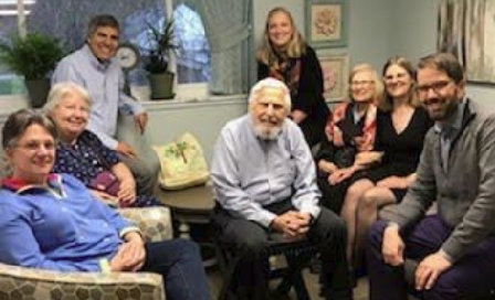 Image of Family at the Dedication Ceremony for Sally & Sam Room
